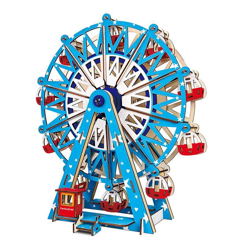 Đồ chơi lắp ráp gỗ 3D Mô hình Vòng Đu Quay Ferris Wheel Laser