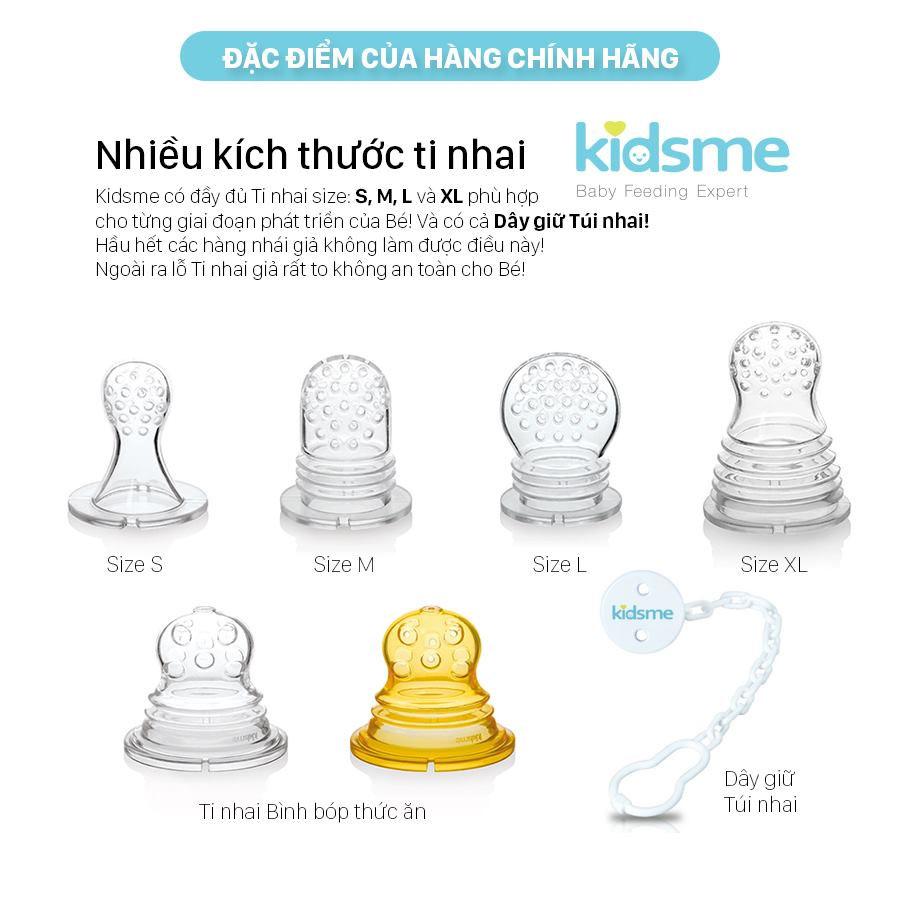Bộ 2 Ti Rời Lỗ Chữ Thập Thay Thế Bình Bóp Kidsme  Silicone  Sac For Food Squeezer Cho Bé Trên 4 Tháng Tuổi Từ Anh Quốc - Ăn Dặm Chủ Động
