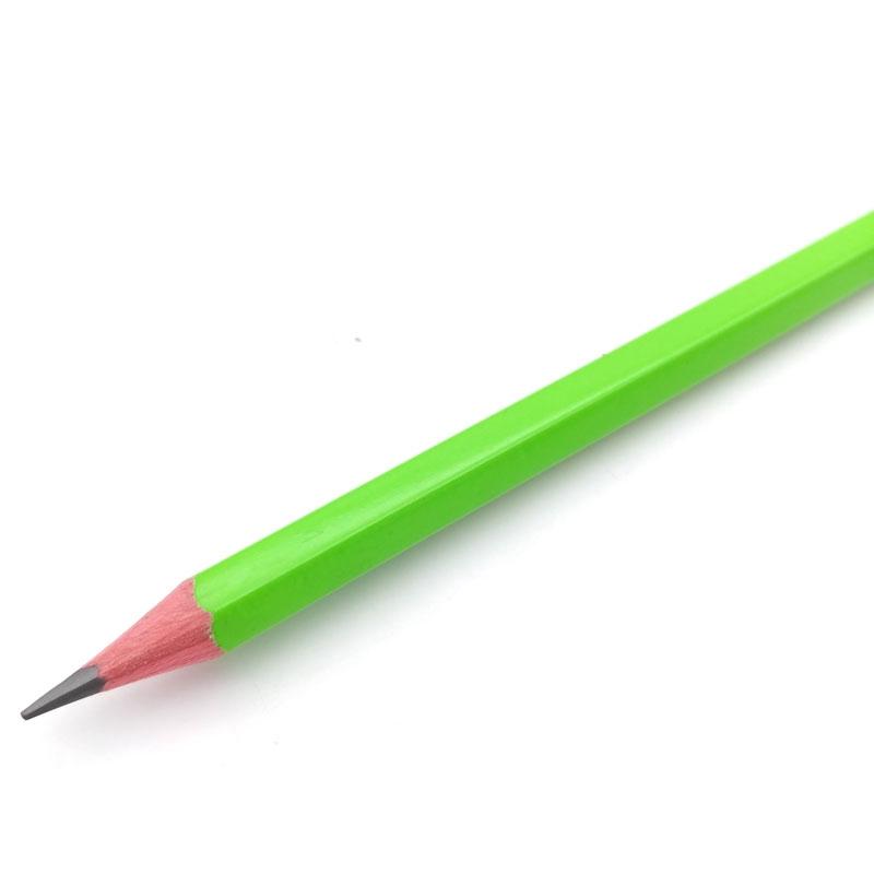 Bút Chì Gỗ Deli Neon 2B EU51400 - Màu Xanh Lá