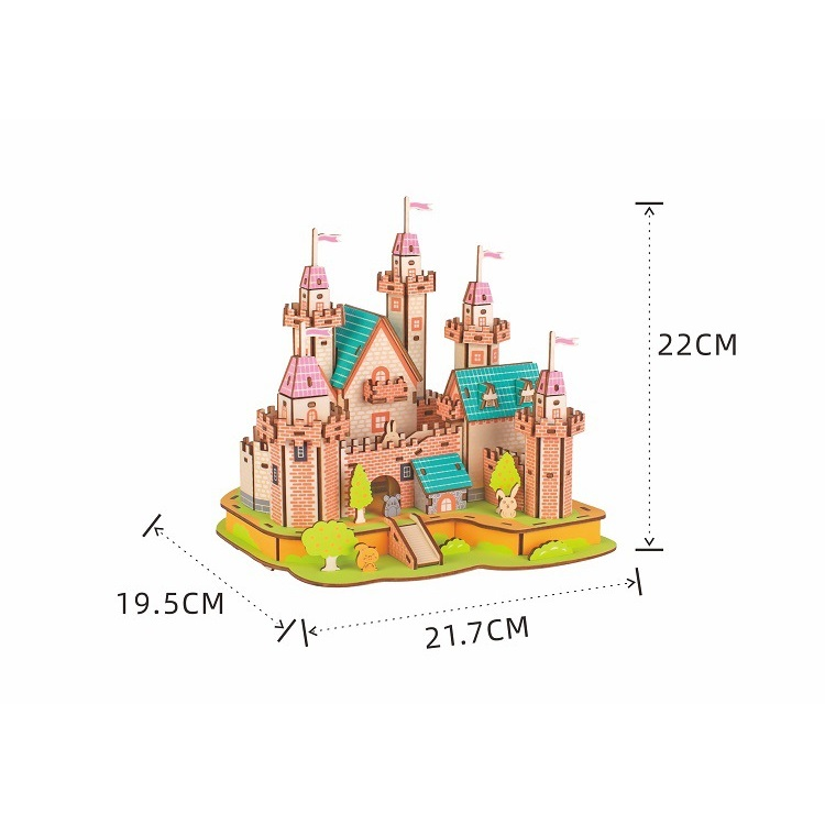Đồ chơi lắp ghép gỗ 3D Mô hình Paradise Castle HD08