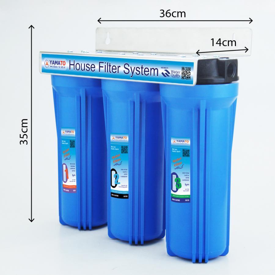 Bộ lọc nước thô đầu nguồn 3 cấp lọc 10inch Yamato YMTH10-3X
