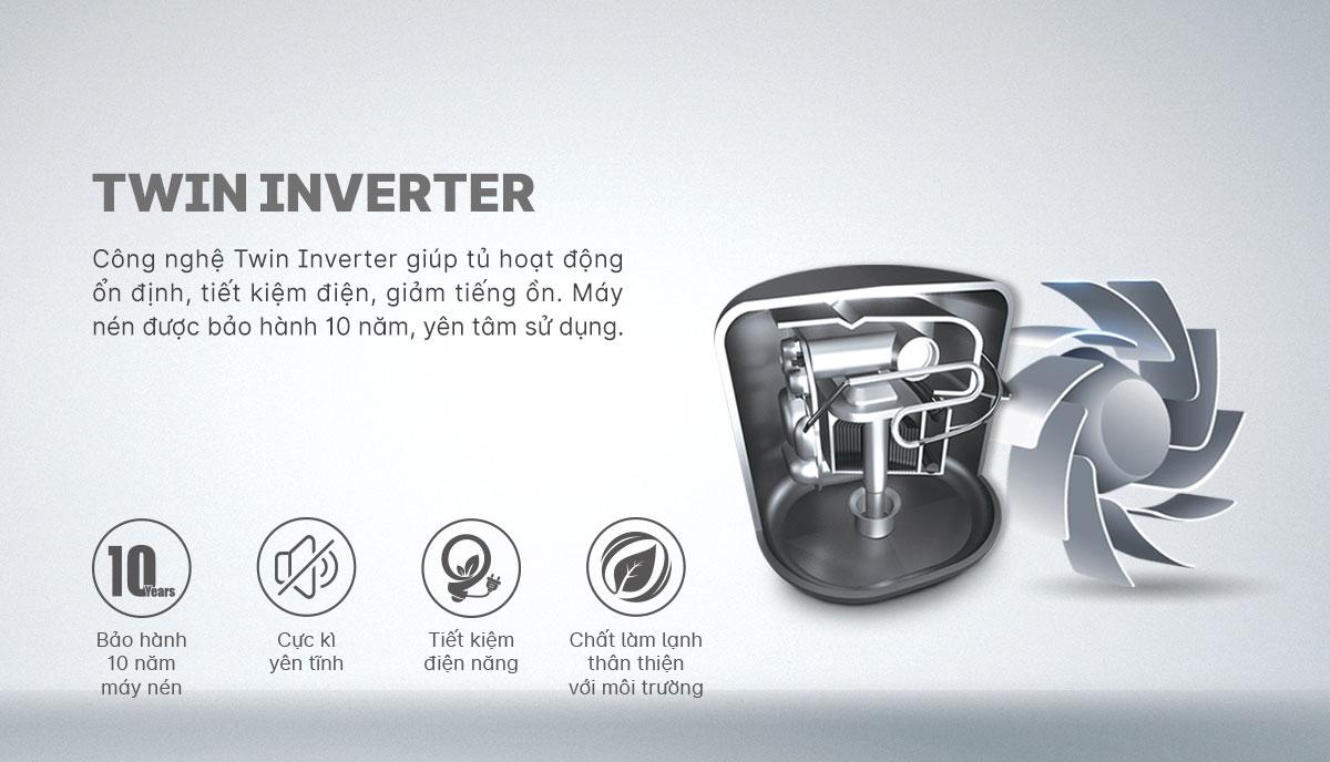 Tủ lạnh Inverter AQR-T239FA(HB) - Hàng chính hãng ( chỉ giao HCM )
