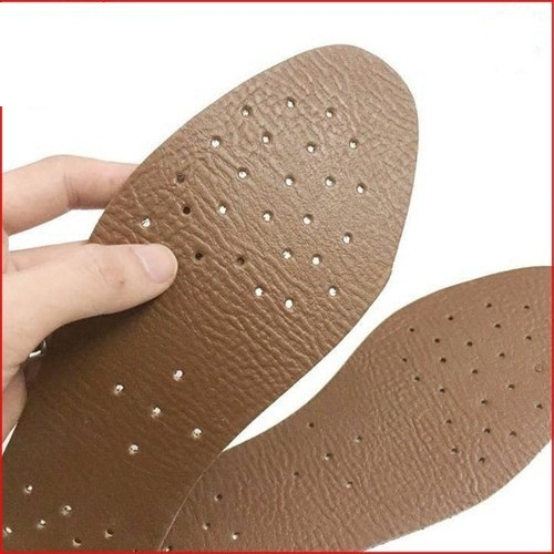 Lót da hút mồ hôi nam - Miếng lót giày thông thoáng khử mùi hôi chân, siêu êm chân - LG01