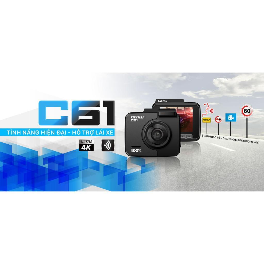 VietMap C61 - Thẻ 32GB - Camera Hành Trình Ô tô - Cảnh Báo Giao Thông Bằng Giọng Nói - Hàng Chính Hãng
