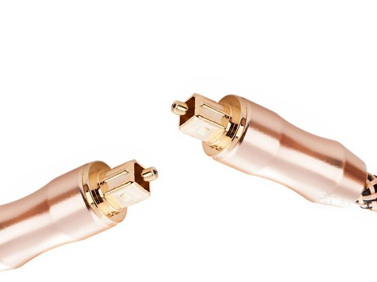 Cáp quang âm thanh mạ vàng 24k Toslink Optical 1.5m (Vàng đồng)