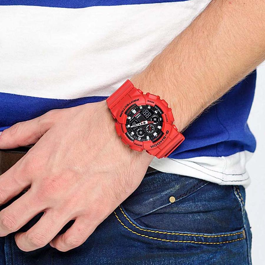 Đồng hồ nam dây nhựa Casio G-Shock chính hãng GA-100B-4ADR