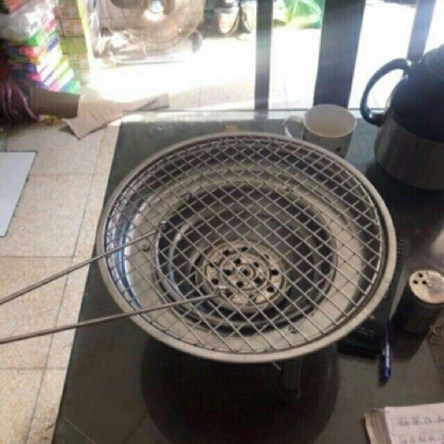 Bếp nướng than hoa Inox tặng kèm 1vỉ nướng