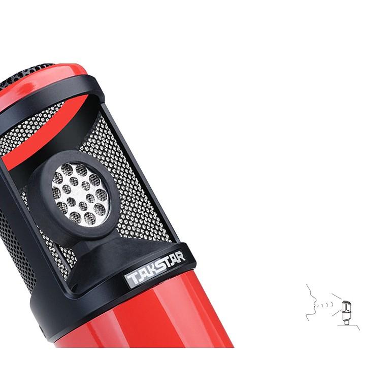 Micro thu âm chuyên nghiệp dành cho hát karaoke live stream Takstar PC - K320 (Màu sắc ngẫu nhiên) - Hàng Chính Hãng