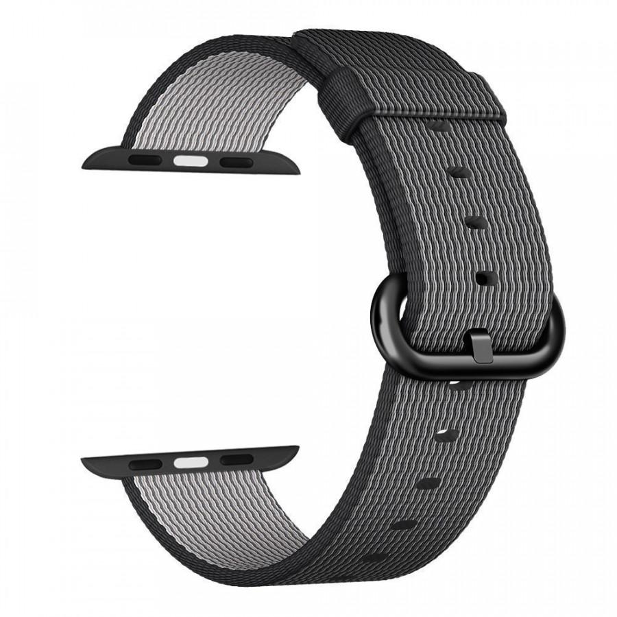 Dây đeo thay thế dành cho đồng hồ Apple Watch Nylon Woven dành khóa thép không gỉ
