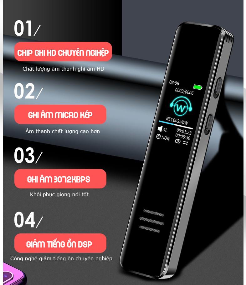 Máy Ghi Âm Chuyên Nghiệp 299IPS Bộ Nhớ Trong 8GB Cao Cấp AZONE