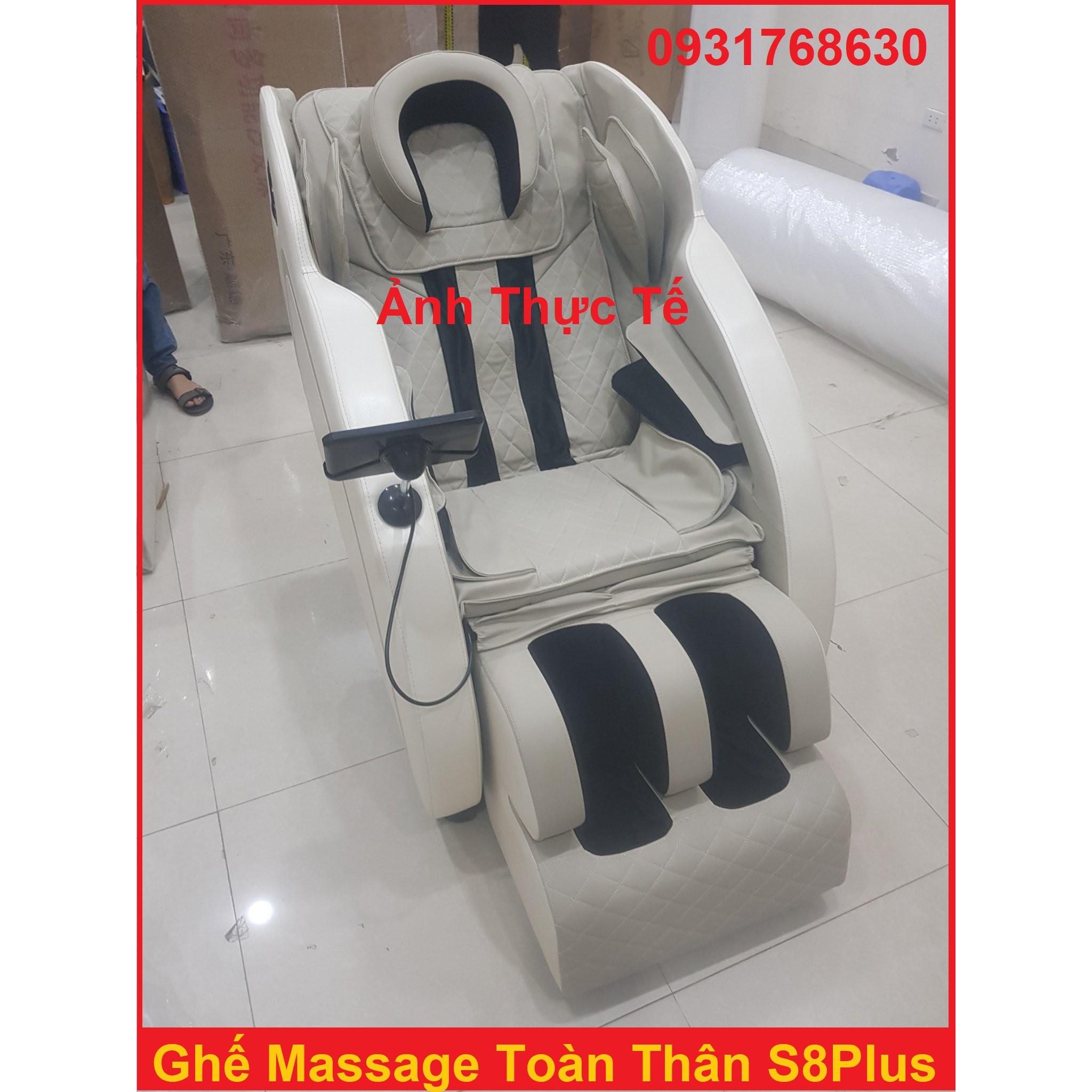 Ghế Mát-xa, Ghế Massage S8Plus Màn Hình Cảm Ứng LED Cao Cấp , Ghe Mat- Xa Trị Liệu Cao Cấp