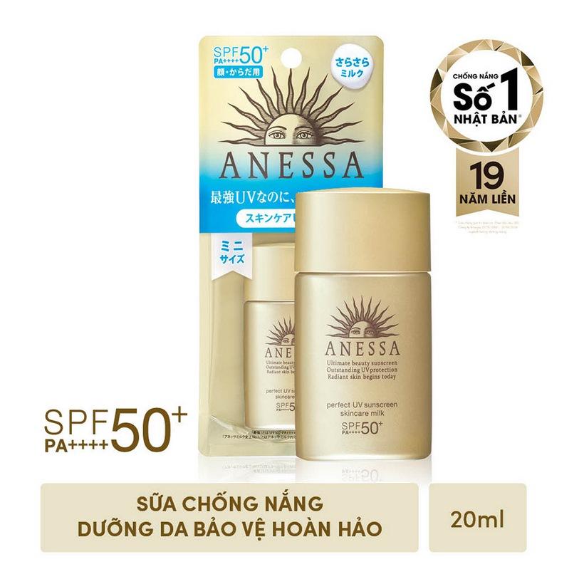 Sữa chống nắng bảo vệ hoàn hảo Anessa Perfect UV Sunscreen Skincare Milk -  SPF 50+, PA++++ - 20ml | Anessa Official Store | Tiki