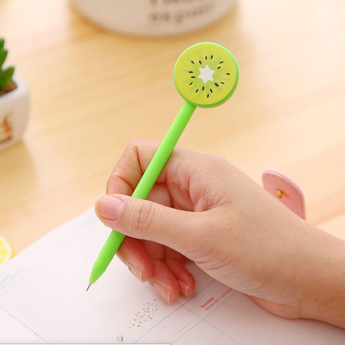 [COMBO 3 Chiếc] Bút Bi Viết Tạo Hình Hoa Quả Độc Đáo - Bút Bi Nước Văn Phòng Mực Đen