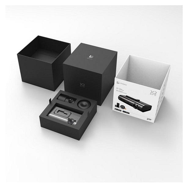 DDPAI X2 PRO Camera hành trình kỹ thuật số kép với độ phân giải 2K Ultra HD. Hàng nhập khẩu