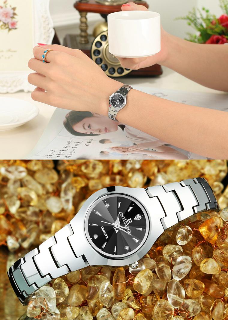 Đồng hồ nữ thời trang chống nước cao cấp RZY-06B kèm hộp đựng và bấm đốt