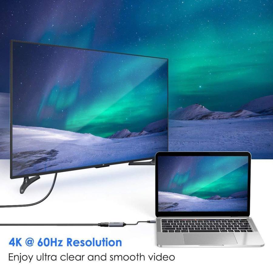 Hub Chuyển Đổi USB Type C to HDMI CHOETECH HUB-H10 Độ Phân Giải 4K 60Hz, 1080P Cho Tivi/Laptop/Playstaysion/PC - Hàng Chính Hãng
