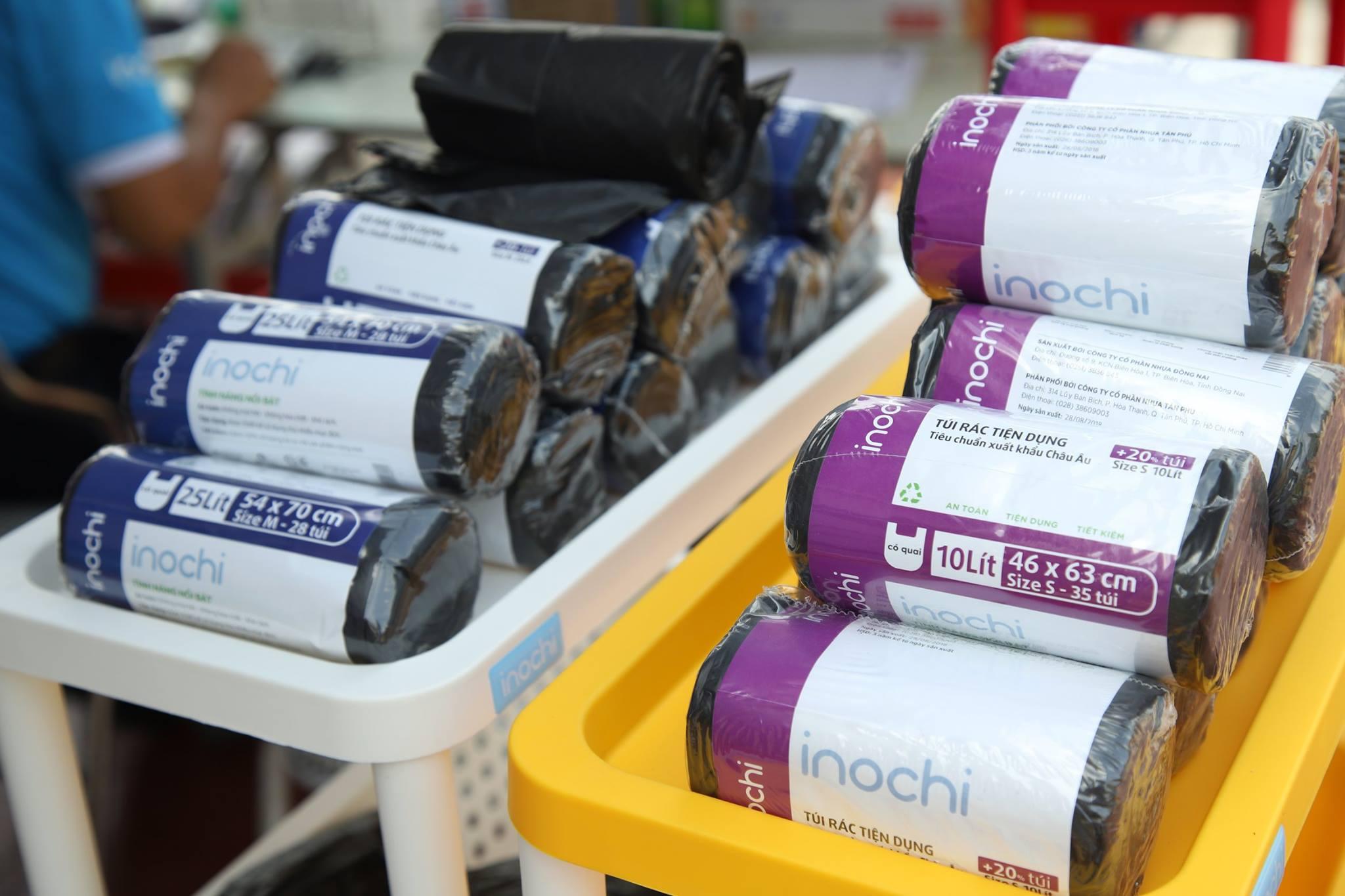 Túi Rác Tự Hủy Có Quai Tiện Dụng SOJI INOCHI Nhật Bản - Màu Đen Dạng Cuộn - Nhiều Size - Đa dạng công năng sử dụng