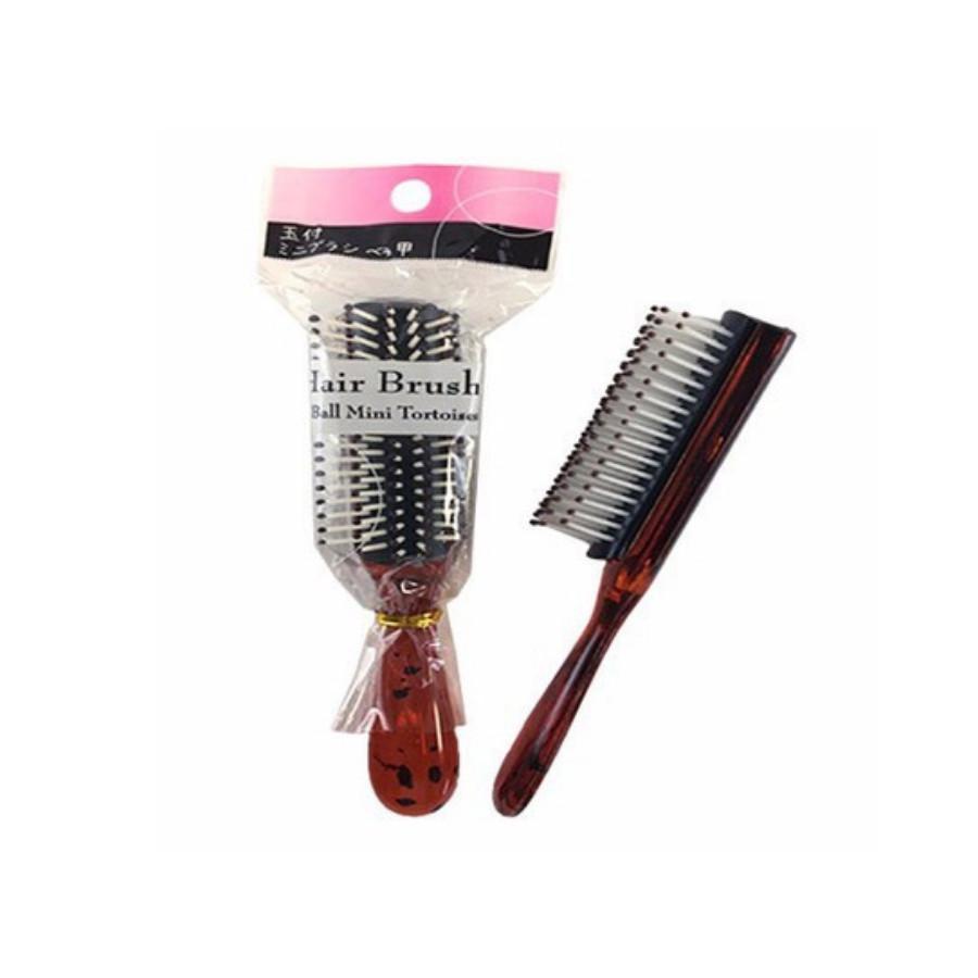 Lược chải tóc đầu tròn mini bỏ túi tiện lợi (1 cái) tặng 2 zipper 10cm