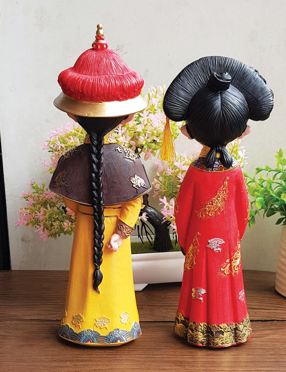 Bộ 02 tượng chibi Hoàng Thượng và Hoàng Hậu cổ trang 3D sinh động