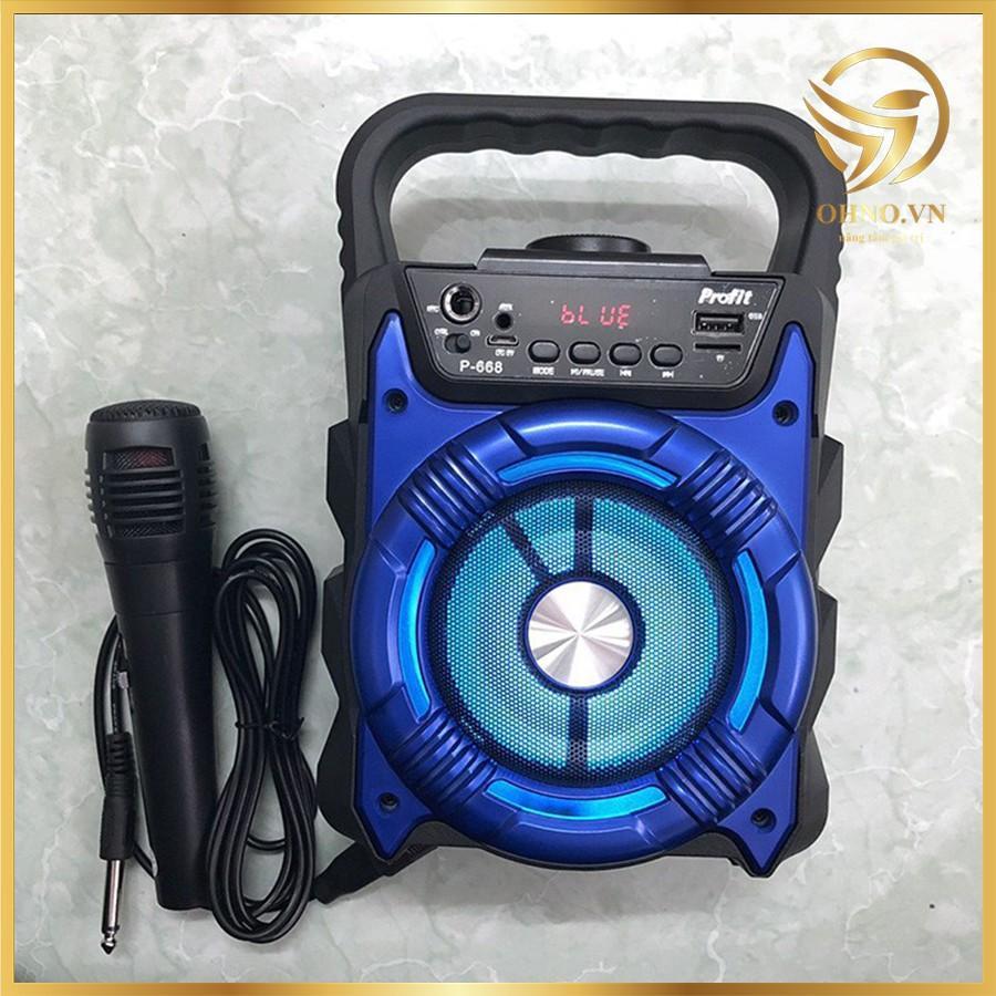 Micro Karaoke Kèm Loa Bluetooth P669 Âm Thanh Cực Hay