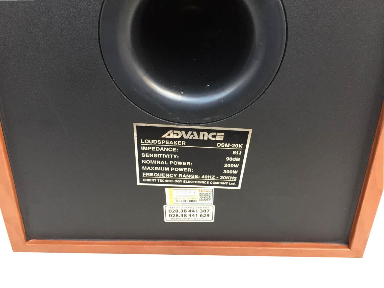 Bộ loa Advance OSM-20K (Bass 2 Tấc) - Hàng chính hãng