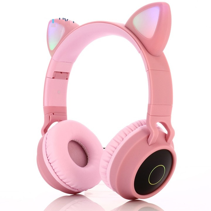 Tai Nghe Mèo Bluetooth, Headphone Tai Mèo Dễ Thương Có Mic,Âm Bass Mạnh Mẽ (màu ngẫu nhiên)
