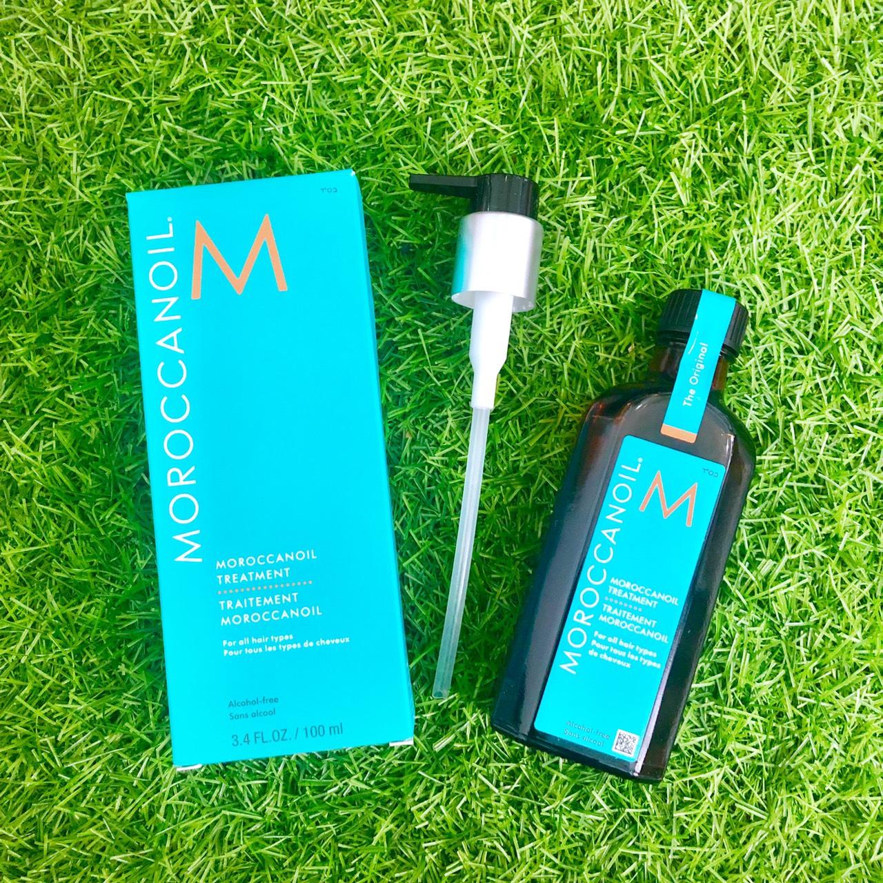 Tinh dầu Moroccanoil dưỡng bóng mượt phục hồi tóc hư tổn 100ml - Hàng chính hãng