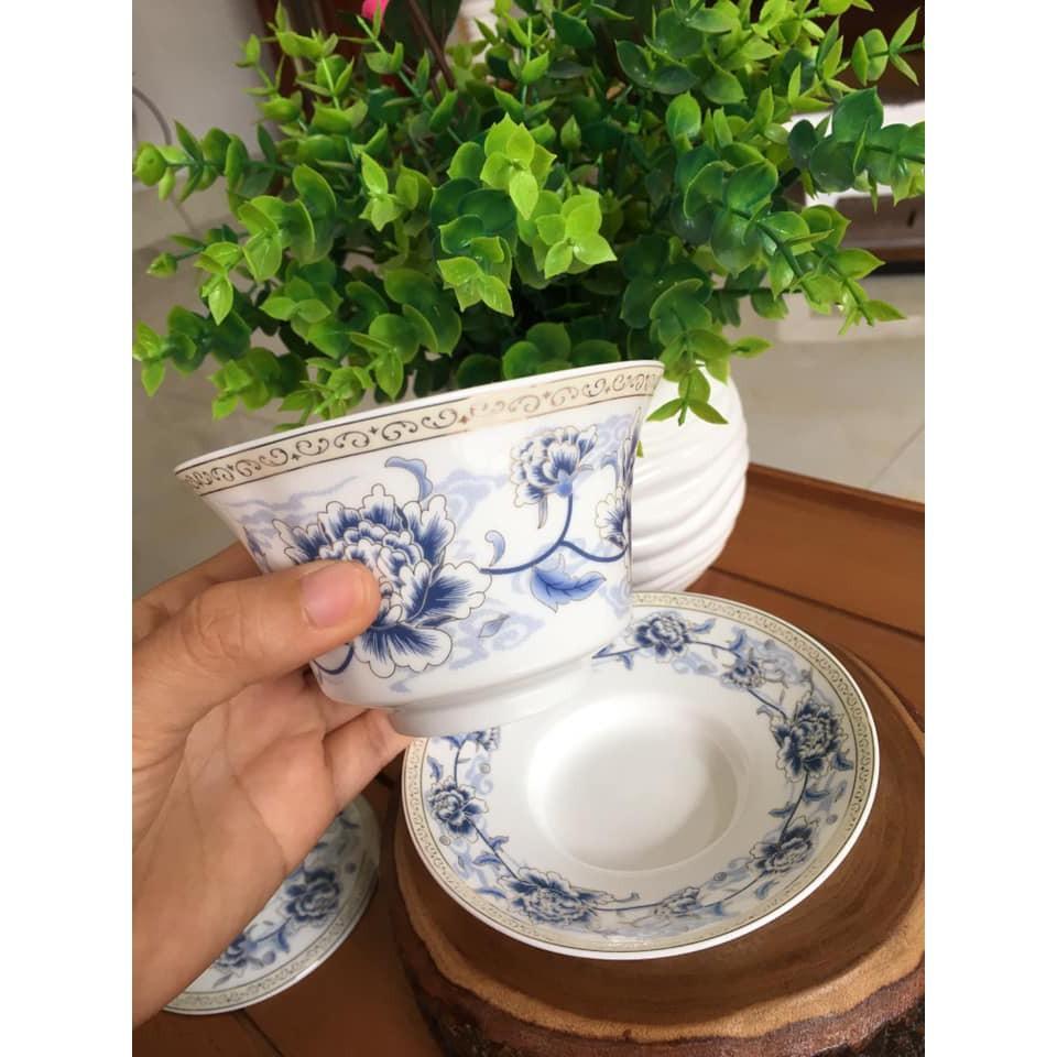 Chén Khải tiềm trà vẽ hoa mẫu đơn trang nhã