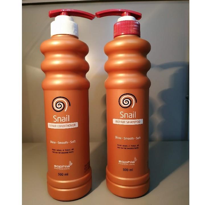 Dầu Gội Siêu Phục Hồi & Lưu Hương Sophia Profesional Snail Repair Shampoo Hàn Quốc 500ml tặng kèm móc khoá