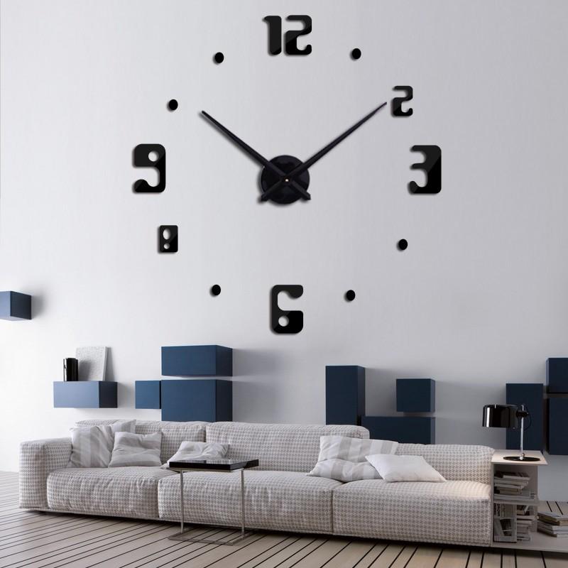 Đồng hồ trang trí treo tường 3D- gắn tường sáng tạo loại lớn DH13