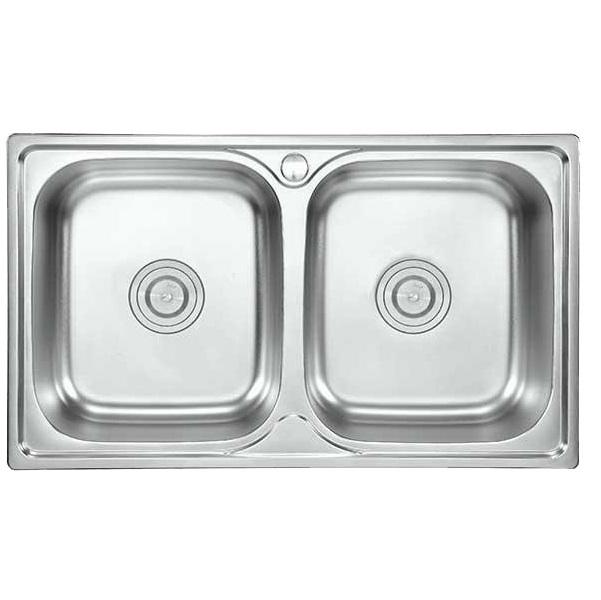 Chậu Rửa Chén Đôi INOX + Vòi Rửa
