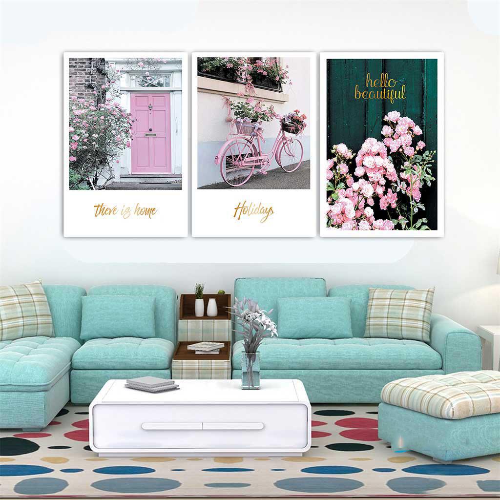 Set 3 tranh canvas tranh trí nội thất 30x40cm HO0376