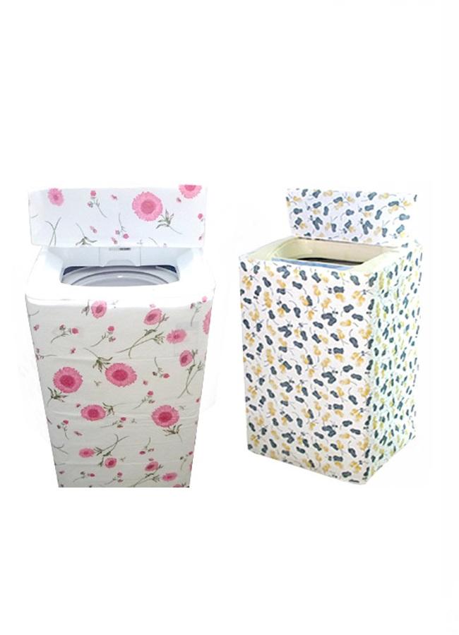 Combo áo trùm máy giặt 2 lớp cao cấp (giao màu ngẫu nhiên) + bột tẩy vệ sinh lồng máy giặt nhập khẩu Hàn Quốc (450gr)