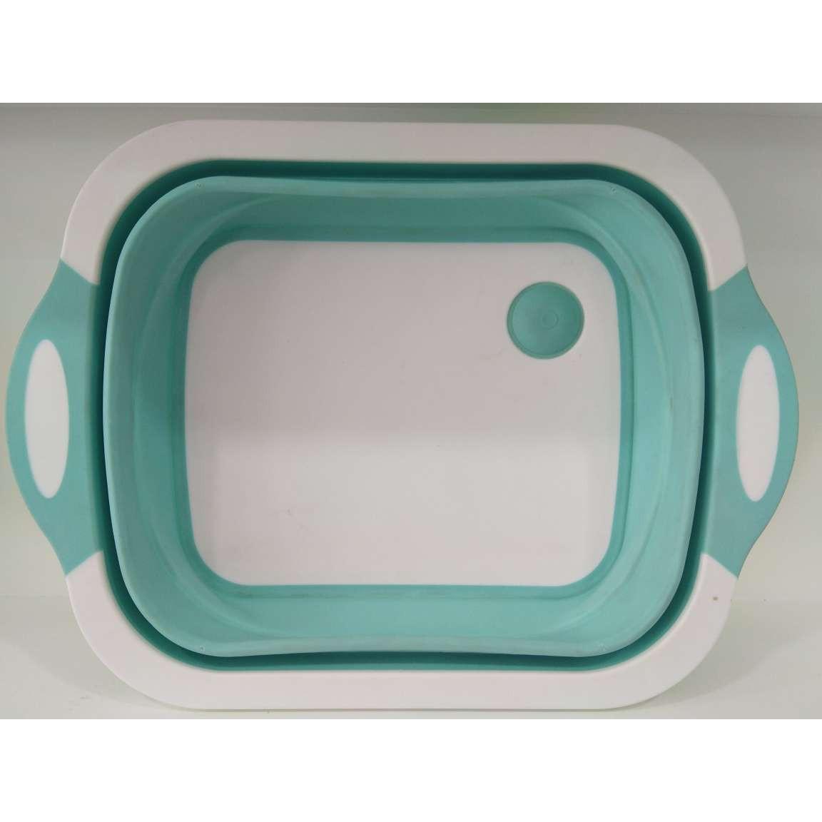 Thớt nhựa gấp gọn đa năng kiêm chậu rửa có lỗ thoát nước