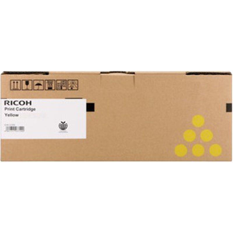 Mực Máy In Màu Ricoh SP C250/C260/C261 - Cartridge 407550 Màu Vàng  ( Hàng Chính hãng )