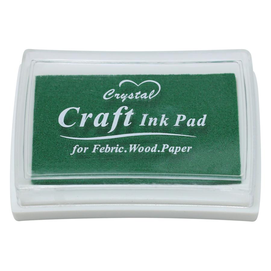 Hộp Mực Dấu Craft Ink Pad - Màu Xanh Lá Đậm