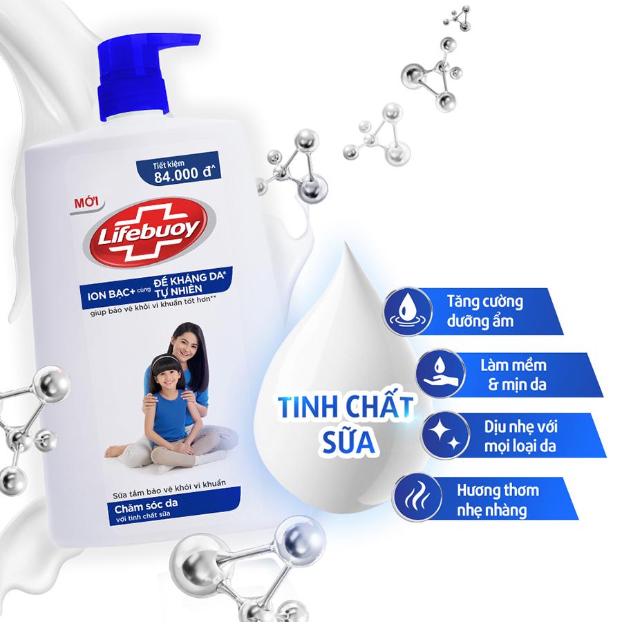 Sữa Tắm Lifebuoy 1100g Chăm Sóc Da Dưỡng ẩm Mềm Mịn Giúp Bảo Vệ Khỏi 99.9% Vi Khuẩn Và Ngăn Ngừa Vi Khuẩn Lây Lan Trên Da