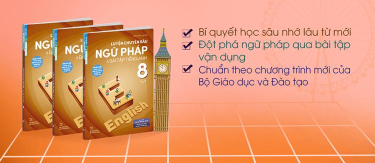 Luyện Chuyên Sâu Ngữ Pháp Và Bài Tập Tiếng Anh 8 Tập 1 (Chương Trình Mới)
