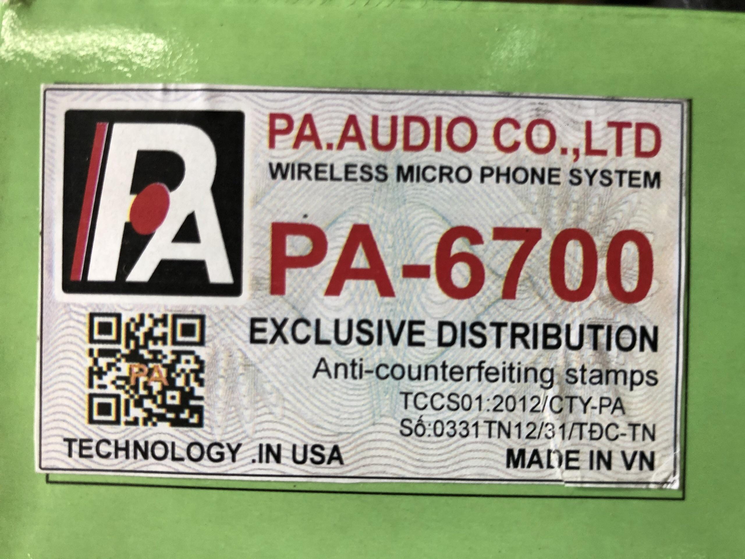 Micro Không Dây PA ATC - 6700 - Hàng Chính Hãng