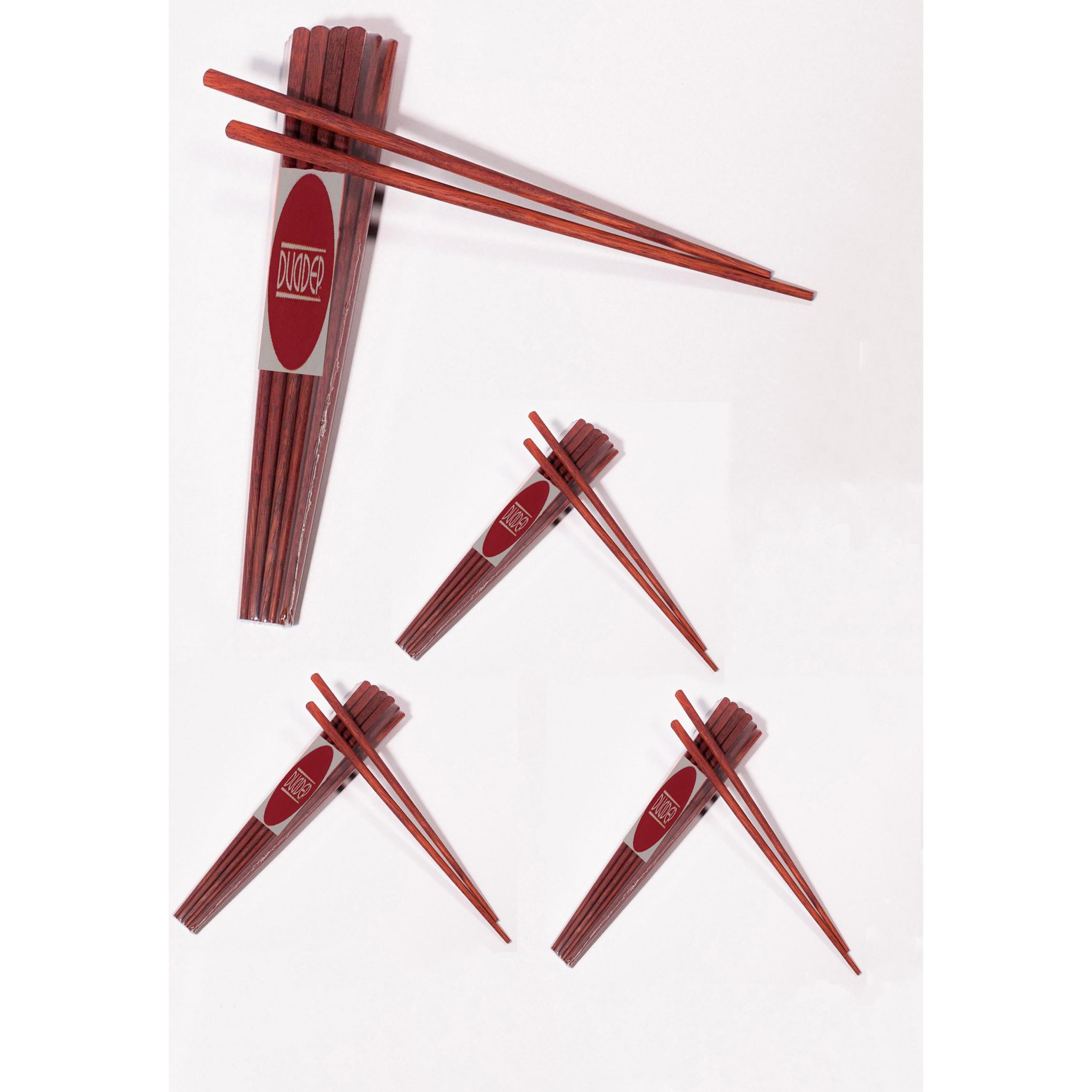 40 đôi đũa gỗ cẩm không nhuộm màu không mùi gỗ trần mộc tự nhiên