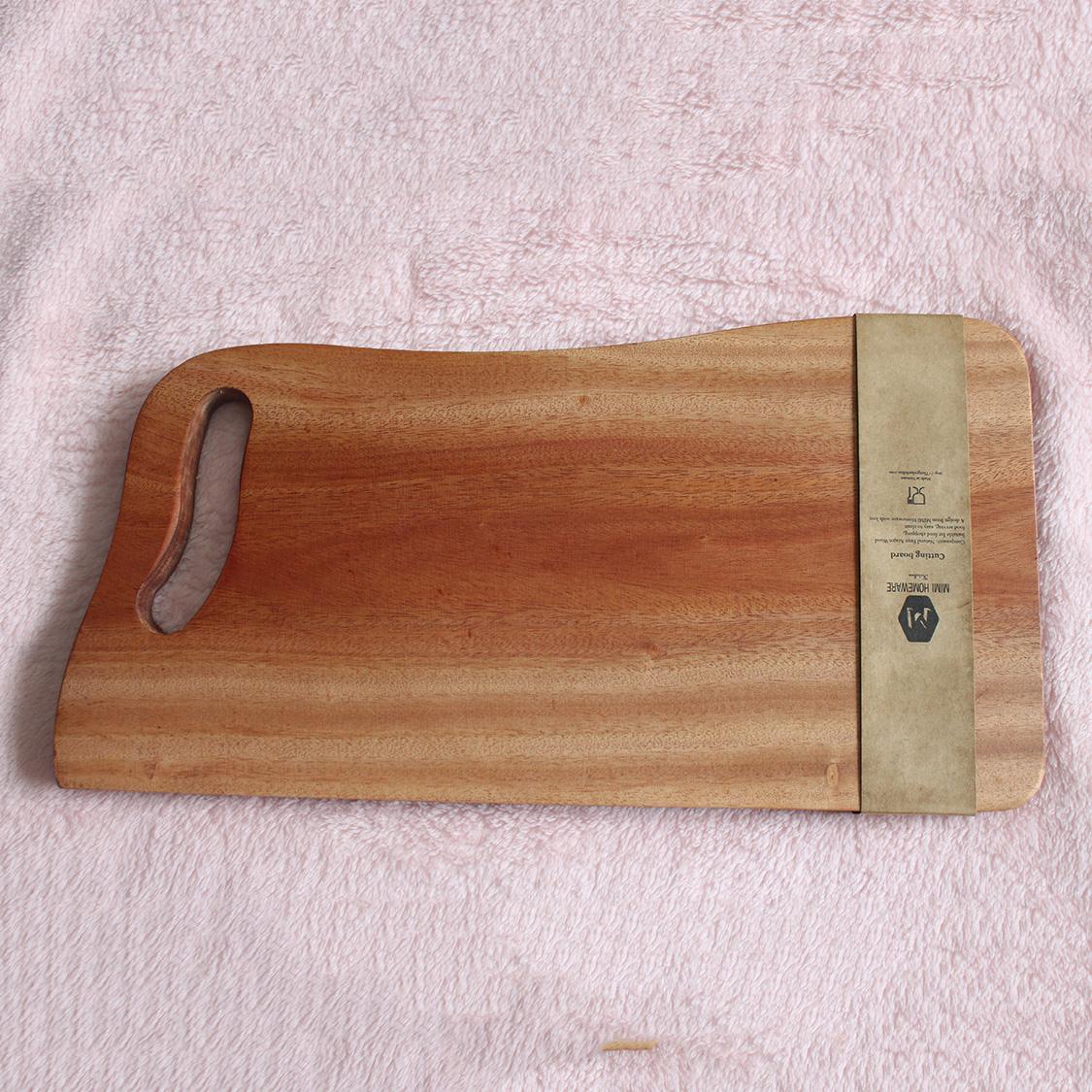 Thớt gỗ chữ nhật viền cong TGTD1