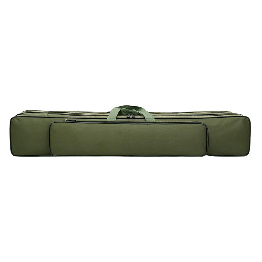 Fishing Rod Bag Waterproof Canvas Backpacking Protector Sleeve - Army Green 80 three-story