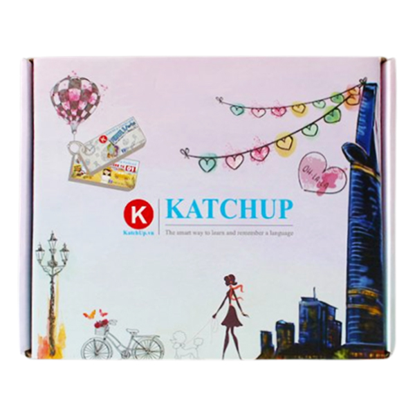Bộ KatchUp Flashcard 3000 Từ Tiếng Anh Phần B (1500 từ) - Best Quality (04BB)
