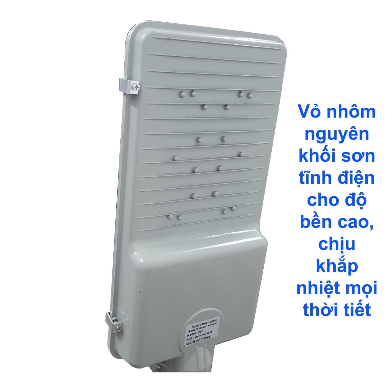 Đèn đường bàn chải năng lượng mặt trời 200W TCARE 616 led, 42000mAh, Tấm Mono - Hàng chính hãng