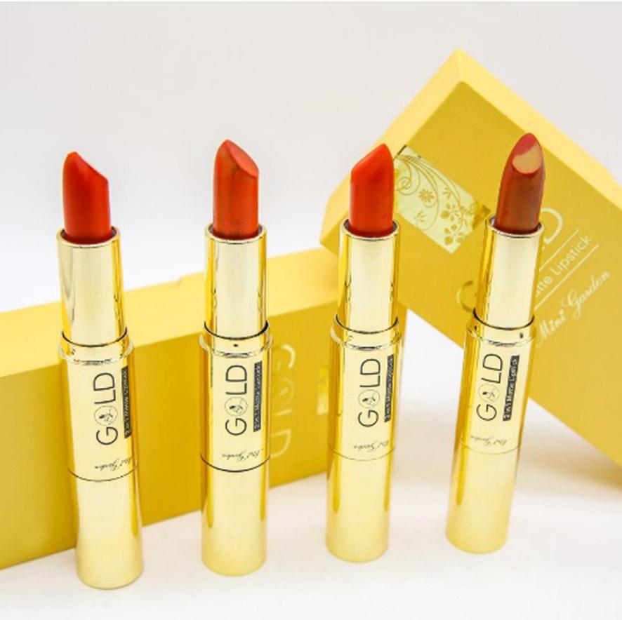 Son Nhung Lì Gold matte lipstick 2 in 1