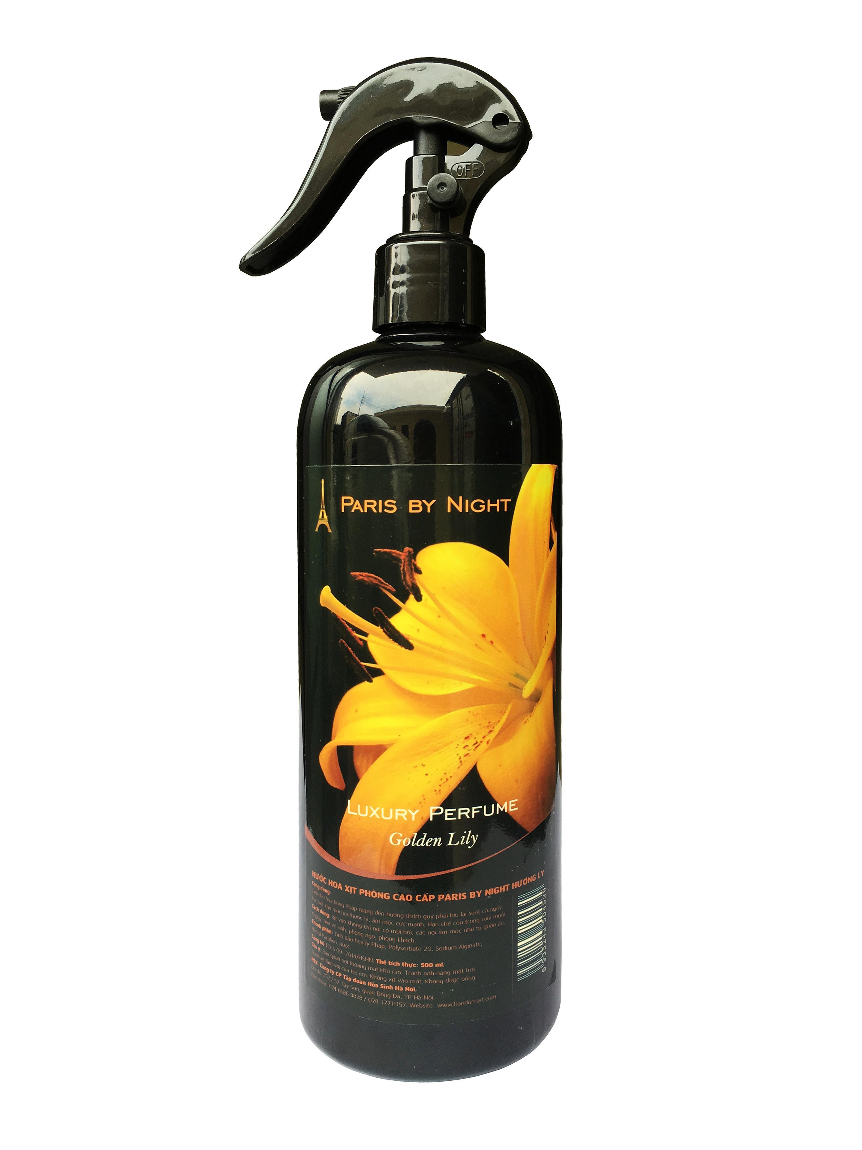 Chai xịt phòng tinh dầu Nước hoa cao cấp Paris 500ml khử mùi thuốc lá,ẩm mốc , hạn chế ruồi muỗi (giao màu ngẫu nhiên)