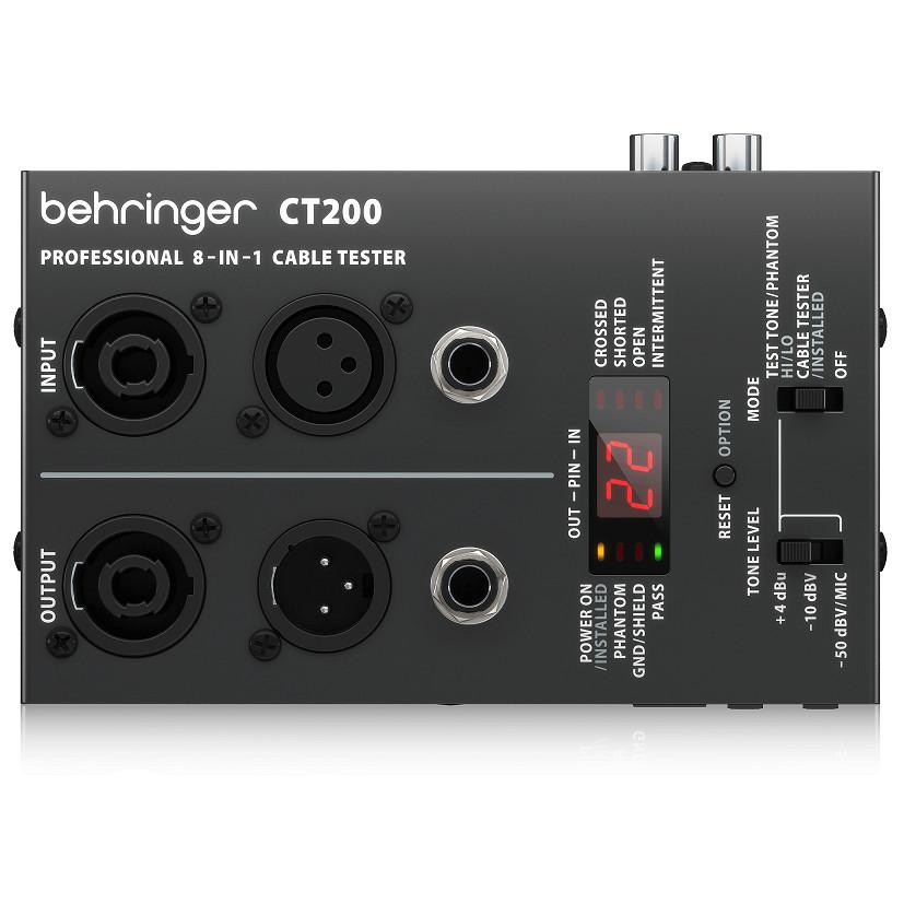 THIẾT BỊ KIỂM TRA CÁP TÍN HIỆU - Cable Tester BEHRINGER CT200- HÀNG CHÍNH HÃNG