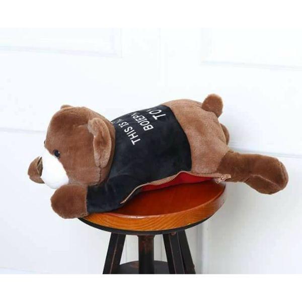 Túi Sưởi Ấm Lưng Họa Tiết Gấu Đa Năng (1 Sản Phẩm)- Dùng Điện  - Màu Nâu - Mẫu TSC0256