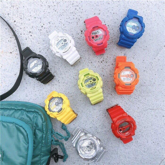 Đồng hồ điện tử thời trang nam nữ Sh1,mặt tròn dây silicon nhiều màu,có ngày tháng,báo thức và đèn