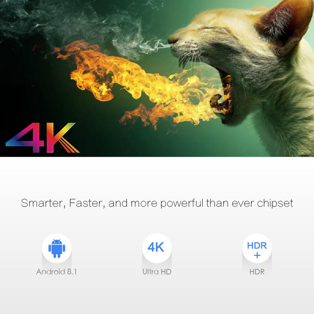 Android TV Box X96MAX-DDR4-2GB, Amlogic S905X2, Android 8.1, Bộ Nhớ 16GB, 4K TV Box USB3.0 WiFi, Gigabit LAN - Hàng Nhập Khẩu